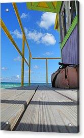 Lifeguard Tower 2.2 - South Beach - Miami Acrylic Print