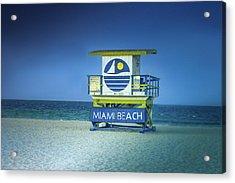 Lifeguard Tower Acrylic Print