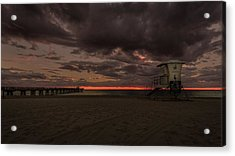 Lifeguard Tower At Sunrise Acrylic Print