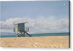 Lifeguard Tower Acrylic Print by Merle Keller