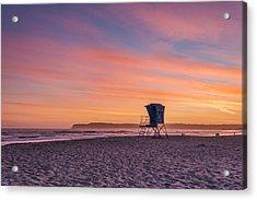 Lifeguard Tower Sunset Acrylic Print