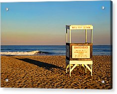Lifeguard Stand At Ocean City Nj Acrylic Print