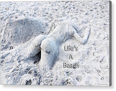 Life's A Beach By Sharon Cummings Acrylic Print by Sharon Cummings