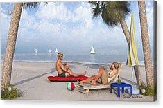 Acrylic Print featuring the digital art Life's A Beach by Jayne Wilson