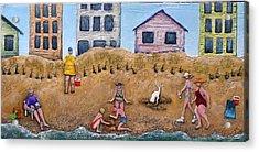 Life's A Beach Acrylic Print by Linda Carmel