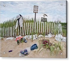 Acrylic Print featuring the photograph Life's A Beach by Robin-Lee Vieira