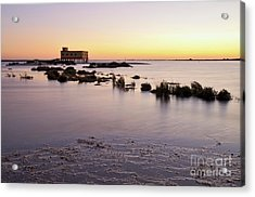 Lifesavers Building And Tides In Fuzeta Acrylic Print by Angelo DeVal