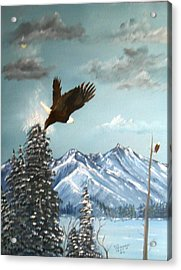 Acrylic Print featuring the painting Lift Off by Al  Johannessen