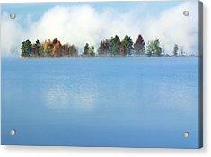 Lifting Fog Acrylic Print by Jim Nelson
