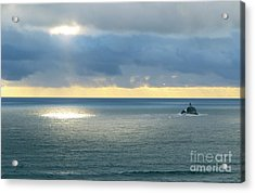 Acrylic Print featuring the photograph Light And Lighthouse by Suzette Kallen
