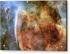 Light And Shadow In The Carina Nebula Acrylic Print