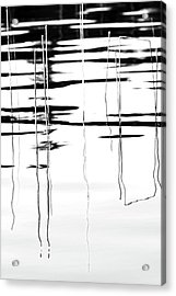 Light And Shadow Reeds Abstract Acrylic Print