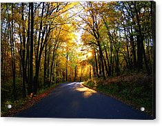 Light At The End Of The Road Acrylic Print by Joe Medina