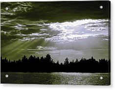 Light Blast In Evening Acrylic Print