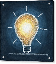 Light Bulb Design Acrylic Print by Setsiri Silapasuwanchai