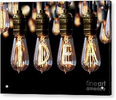 Light Bulb Idea Acrylic Print by Setsiri Silapasuwanchai