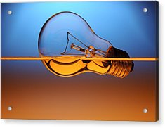 Light Bulb In Water Acrylic Print by Setsiri Silapasuwanchai