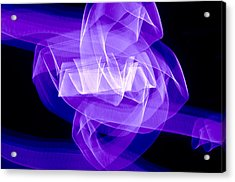 Acrylic Print featuring the photograph Light Bulb Purple by Kevin Blackburn