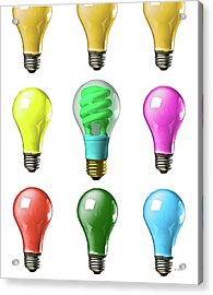 Light Bulbs Of A Different Color Acrylic Print by Bob Orsillo