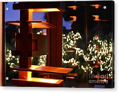 Light Fixture Reflection In David And Gladys Wright Home Acrylic Print
