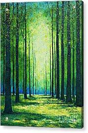 Light From Green Acrylic Print