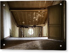 Light From The Spooky Attic - Abandoned Building Acrylic Print by Dirk Ercken