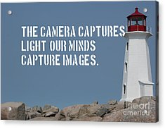 Acrylic Print featuring the mixed media Light House by Wilko Van de Kamp
