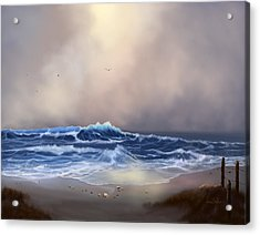 Light In The Storm Acrylic Print by Sena Wilson