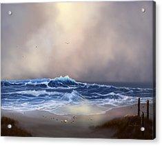 Light In The Storm Acrylic Print by Sena Wilson