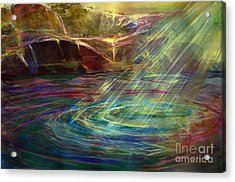 Light In Water Acrylic Print