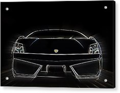 Light Lambo Acrylic Print