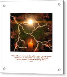 Acrylic Print featuring the photograph Light Of A Single Candle by Kristen Fox