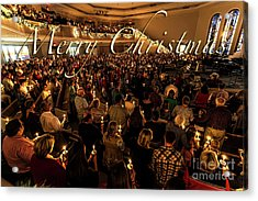 Acrylic Print featuring the photograph Light Of Christmas by Anthony Baatz