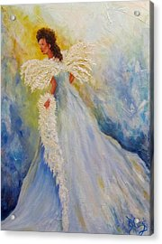 Light Of Grace,angel Acrylic Print