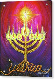 Acrylic Print featuring the painting Light Of Life by Nancy Cupp