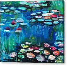 Light Of The Lillies Acrylic Print by Elizabeth Robinette Tyndall