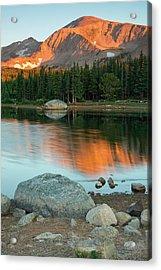Light Of The Mountain Acrylic Print by John De Bord