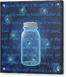 Light Of The World Fireflies Acrylic Print