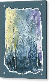 Light On Bare Trees 2 Acrylic Print