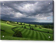 Light On Mid Devon Hills Acrylic Print