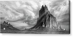 Acrylic Print featuring the photograph Light On Shiprock by Jon Glaser