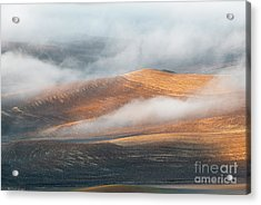 Light On The Hills Acrylic Print by Mike Dawson