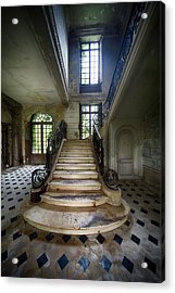 Acrylic Print featuring the photograph Light On The Stairs - Abandoned Castle by Dirk Ercken