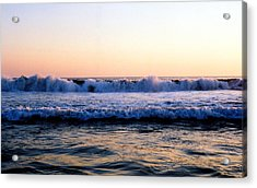 Acrylic Print featuring the photograph Light On The Wave Tops 4 by Lyle Crump