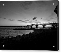 Light Over Bridge Acrylic Print