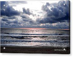 Light Parting The Darkness Acrylic Print by Linda Mesibov