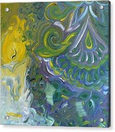 Light Patterns Acrylic Print by Wajeeha Zarrar