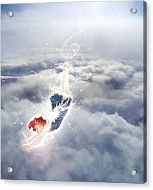 Light Play Angels Descent Acrylic Print by Nikki Marie Smith