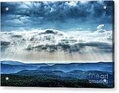 Acrylic Print featuring the photograph Light Rains Down by Thomas R Fletcher
