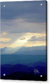 Light Ray Sunset Acrylic Print by Meta Gatschenberger